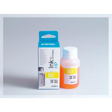 CROCODILE 5H300-Y, 50ml samostatný inkoust pro HP CB337,351-CB338,351-CC644EE,300XL-300