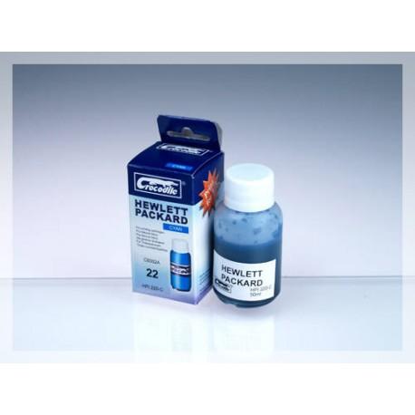 CROCODILE HPI220-C, 50ml samostatný inkoust pro HP C9352A, 22 - HP C9352C, 22XL.