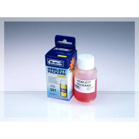 CROCODILE HPI235-Y, 50ml samostatný inkoust pro HP CB337, 351 - CB338, 351XL.