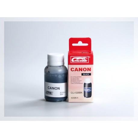 CROCODILE 5C526-A, 50ml samostatný inkoust pro CANON CLI-526BK.