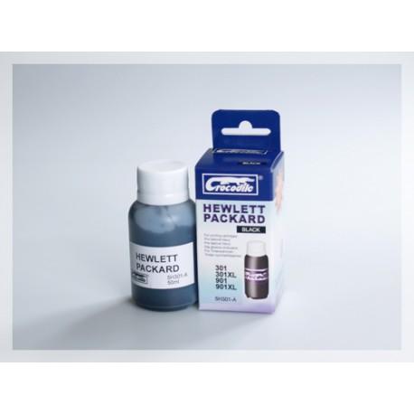 CROCODILE 5H301-A, 50ml samostatný inkoust pro HP 901(CC653AE,654AE), 301(CH561EE,563EE)