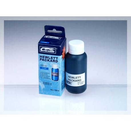 CROCODILE RDJ 190-C, 100ml samostatný inkoust pro HP C6578A, 78 - C6578D, 78.