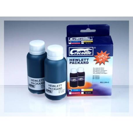 CROCODILE RDJ 280-C, 200ml samostatný inkoust pro HP C1823, 23 - C6625, 17 - 51641, 41.
