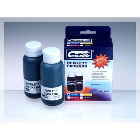 CROCODILE RDJ 250-C, 200ml samostatný inkoust pro HP C6657A, 57 - HP C6657G, 57 SMALL.