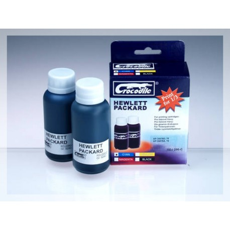 CROCODILE RDJ 290-C, 200ml samostatný inkoust pro HP C6578A, 78 - C6578D, 78.