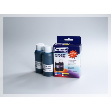 CROCODILE 2H301-C, 200ml samostatný inkoust pro HP CC656,901-CH562EE,301-CH564EE,301XL