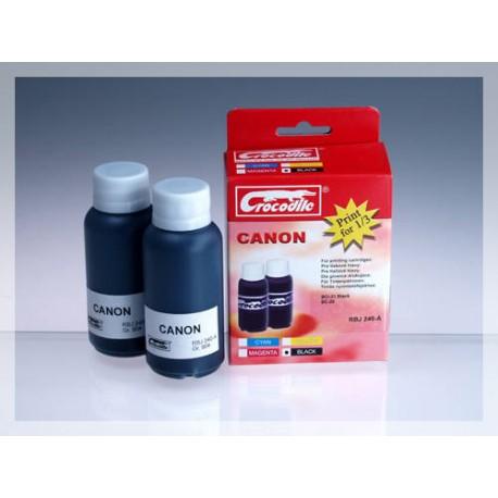 CROCODILE RBJ 240-A, 200ml samostatný inkoust pro CANON BC-20, BCI-21Bk, BX-20.