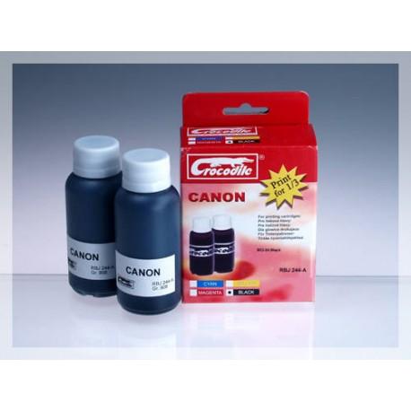 CROCODILE RBJ 244-A, 200ml samostatný inkoust pro CANON BCI-24Bk.