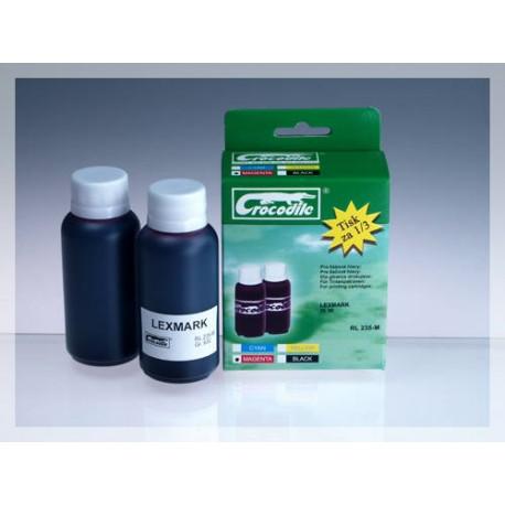 CROCODILE RL 235-M, 200ml samostatný inkoust pro LEXMARK 18C0033, 33 - 18C0035, 35.