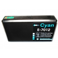 EPSON T701240, kompatibilní cartridge, T7022, C13T70124010, 32 ml, Cyan - azurová