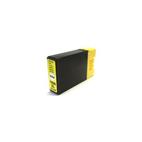 Canon PGI-1500XLY, kompatibilní cartridge, 9195B001, VYSOKÁ KAPACITA, 16ml, žlutá.,