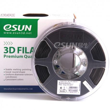 Esun3d tisková struna PLA, 1,75mm, black - černá, 1kg/role