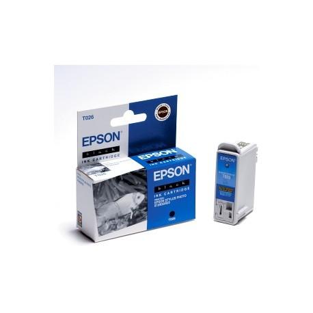 EPSON T026 BK, kompatibilní cartridge, 16ml, black-černá