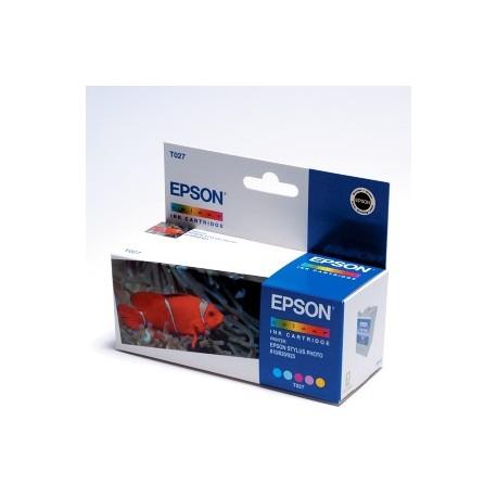 EPSON T027 COL, kompatibilní cartridge, 10ml, color-barevná