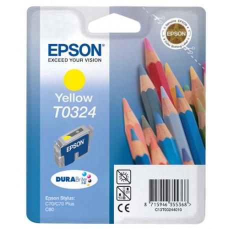 EPSON T0324 Y, kompatibilní cartridge, 16 ml / pigment, yellow-žlutá
