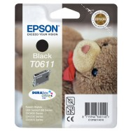 EPSON T0611 Stylus BK, kompatibilní cartridge, 18ml, High Capacity, black-černá, bts.