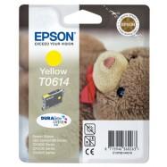 EPSON T0614 Stylus Yellow, kompatibilní cartridge, 18ml, High Capacity, yellow-žlutá, bts.