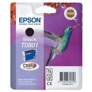 EPSON T0801 BK, kompatibilní cartridge, 15ml, black-černá