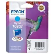 EPSON T0802 C, kompatibilní cartridge, 15ml, cyan-azurová
