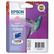 EPSON T0806 LIGHT M, kompatibilní cartridge, 15ml, Light Magenta-světle purpurová