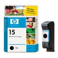 HP C6615, No.15 BK, kompatibilní cartridge, 42ml, black-černá