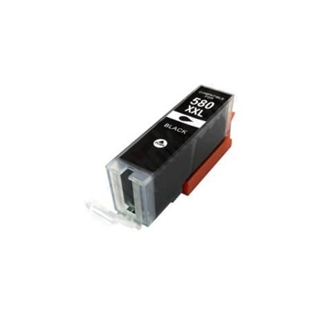 Canon PGI-580BK XL, PGI580PBK XL kompatibilní cartridge, 2024C001, 27ml, Black - černá