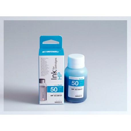 CROCODILE 5H022-C, 50ml samostatný inkoust pro HP C8728, 28 - C6657, 57 - C9352, 22.