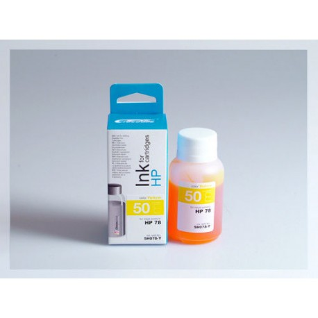 CROCODILE 5H078-Y, 50ml samostatný inkoust pro HP C6578A, 78 - C6578D, 78.