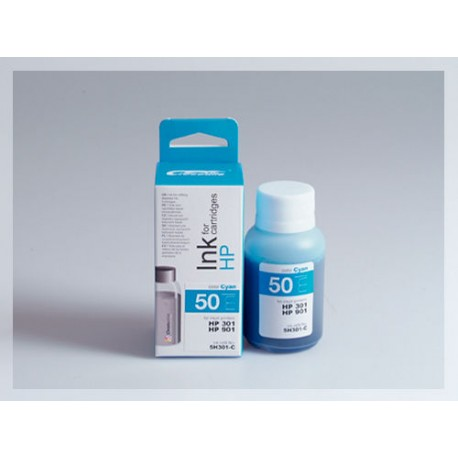 CROCODILE 5H301-C, 50ml samostatný inkoust pro HP CC656, 901-CH562EE, 301-CH564EE, 301XL.