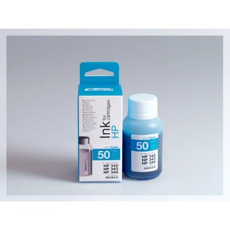 CROCODILE 5H343-C, 50ml samostatný inkoust pro HP C9361, 342 - C9363, 344 - C8766, 343.