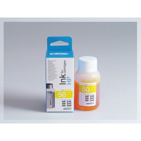 CROCODILE 5H343-Y, 50ml samostatný inkoust pro HP C9361, 342 - C9363, 344 - C8766, 343.