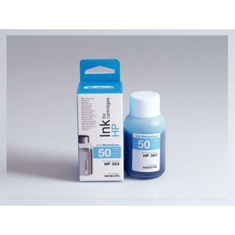 CROCODILE 5H363-PC, 50ml samostatný inkoust pro HP C8774, 363.
