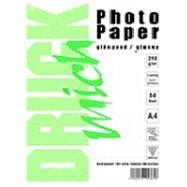 Fotopapíry DRUCK mich, 10x15cm, jednostranný - lesklý, 250g/m2, 50 listů
