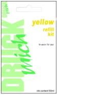 HP č.342, č.343, č.344, plnící sada refill kit, Yellow - žlutá, 1 x 50ml