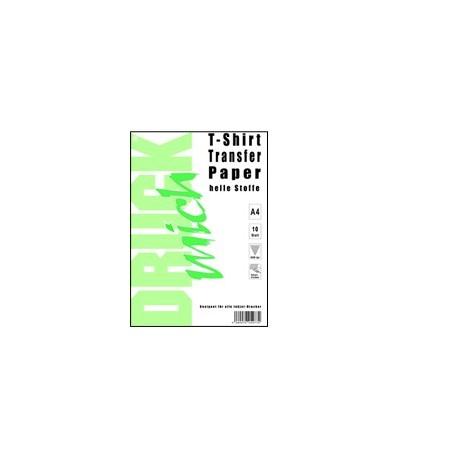 T-shirt transfer (přenášecí) papír DRUCK mich, A4, světlé a barevné textilie, 10listů