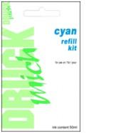 Universální plnící sada Refill kit pro EPSON 50ml, Cyan - azurová