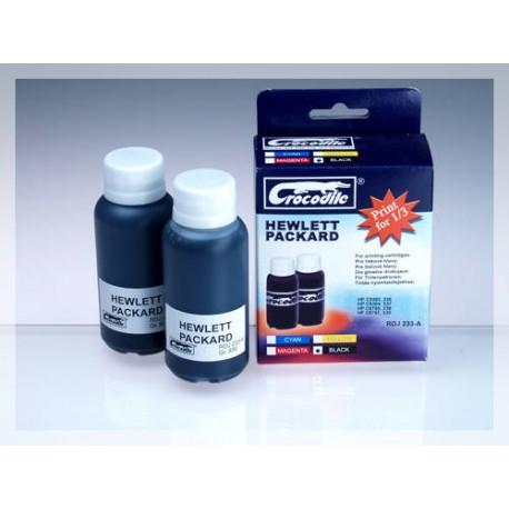 CROCODILE RDJ 233-A, 200ml samostatný inkoust HP C9362,336-C8765,338-C9364,337-C8767,339.