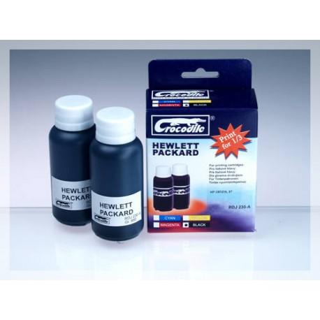 CROCODILE RDJ 230-A, 200ml samostatný inkoust pro HP C8727A, 27.