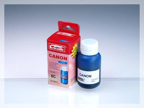 CROCODILE 5C008-C, 50ml samostatný inkoust pro CANON CLI-8C.