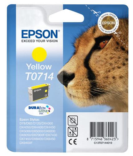 EPSON T0714, kompatibilní cartridge, T0894 Stylus Yellow, 12ml, yellow - žlutá