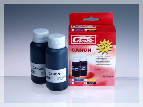 CROCODILE RBJS 280-A, 200ml samostatný inkoust pro CANON BCI-6Bk.